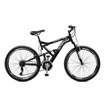 Bicicleta Master Bike Aro 26 Totem Suspensão Full Baixa A-36 21 Marchas Preto -