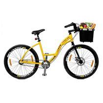 Bicicleta Master Bike Aro 26 Urbis Freio à Disco 3 V Nexus c/ Cesta Amarelo -