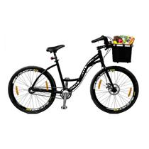 Bicicleta Master Bike Aro 26 Urbis Freio à Disco 3 V Nexus c/ Cesta Preto -