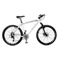 Bicicleta Master Bike Aro 26 Volcano Freio à Disco A-36 21 Marchas Branco -