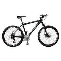 Bicicleta Master Bike Aro 26 Volcano Freio à Disco A-36 21 Marchas Preto -