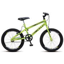 Bicicleta Max Boy Infantil Juvenil Aro 20 Aço Freio V-Brake Amarelo Neon - Colli Bike -
