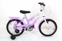 Bicicleta Menina Infantil Aro 16 Completa C/ Cesta Feminina - Wrp