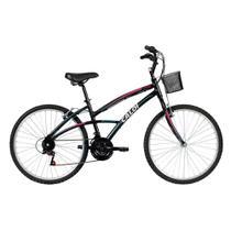 Bicicleta Mobilidade Caloi 100 Aro 26 Quadro Alumínio - 21 Vel - Preto -