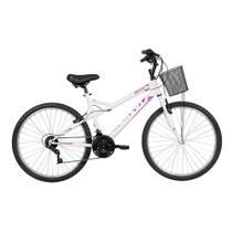 Bicicleta Mobilidade Caloi Ventura Aro 26 2020 - com Cesto 21 Vel - Branca -