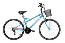 Bicicleta Mobilidade Caloi Ventura Aro 26 - com Cesto Freio V-Brake  21 Velocidades - Azul -