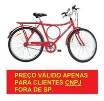 Bicicleta Monark Barra Circular Freios V Brake VERMELHA Aro 26 Cod 53023-A para CNPJ -