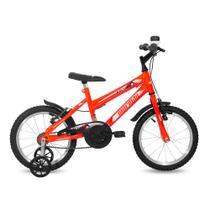 Bicicleta mormaii aro 16 infantil LARANJA -