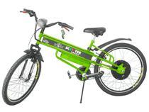 Bicicleta Motorizada Scooter Brasil Pró Aro 26  - Lanterna Dianteira Farol LED e Buzina