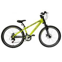 Bicicleta Mountain Bike Aro 26 Freio a Disco Extreme Fischer Amarelo -