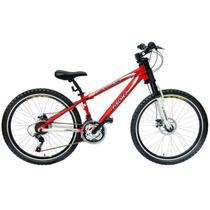 Bicicleta Mountain Bike Aro 26 Freio a Disco Extreme Fischer Vermelho -