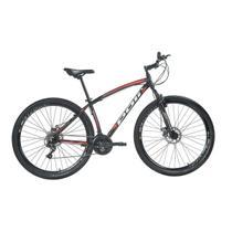 Bicicleta Mountain Bike Polimet Alumínio Aro 29 Freio A Disco Preta -