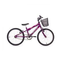 Bicicleta MTB Aro 26 DONNA 18V com cesta Free Action Violeta - MORMAII -