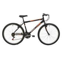 Bicicleta MTB Aro 26 Masculina V-Brake Preta 18v - Polimet