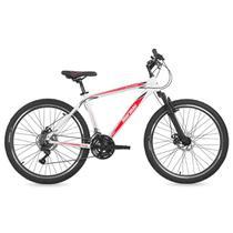 Bicicleta MTB Aro 26 Q18 Alumínio 3.0 21V Shimano Freio a Disco Suspensão B-Range Mormaii -