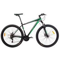 Bicicleta MTB Aro 29 21V Alumínio Quadro 17 Câmbio Shimano Rhino Verde - Mobele