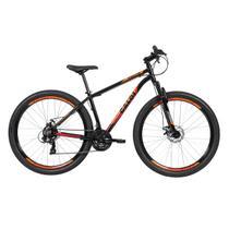 Bicicleta MTB Aro 29 Caloi Vulcan 21 Marchas Freio A Disco Preta -