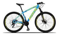 "Bicicleta Mtb Aro 29 Dropp Z3-x Freio Disco Mecânico 21v - Azul e Amarela - 17"" - Dropp Bikes"