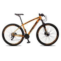 Bicicleta MTB Aro 29 Quadro 17 Alumínio 27 Marchas Freio Hidráulico Vega Laranja - Spaceline -
