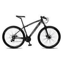 Bicicleta MTB Aro 29 Quadro 19 Alumínio 21 Marchas Freio Mecânico Vega Preto/Cinza - Spaceline -