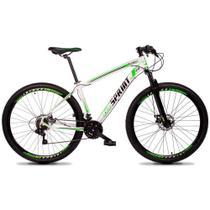 Bicicleta MTB Aro 29 Quadro 19 Alumínio 21 Marchas Freio Mecânico Volcon Branco/Verde - GT Sprint -