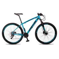 Bicicleta MTB Aro 29 Quadro 19 Alumínio 27 Marchas Freio Hidráulico Vega Azul - Spaceline -