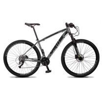 Bicicleta MTB Aro 29 Quadro 19 Alumínio 27 Marchas Freio Hidráulico Vega Cinza - Spaceline -