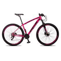 Bicicleta MTB Aro 29 Quadro 19 Alumínio 27 Marchas Freio Hidráulico Vega Rosa - Spaceline -