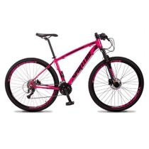 Bicicleta MTB Aro 29 Quadro 21 Alumínio 27 Marchas Freio Hidráulico Vega Rosa - Spaceline -