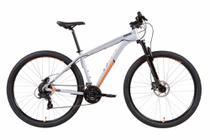 Bicicleta MTB Caloi 29 Aro 29 - Freio a Disco - 21 Velocidades - Prata -