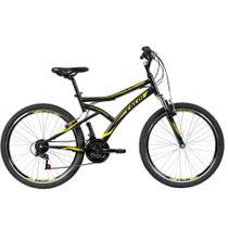 Bicicleta MTB Caloi Andes Aro 26 - Susp Dianteira - 21 Velocidades - Preto -