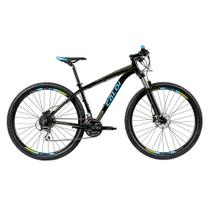 "Bicicleta MTB Caloi Atacama Aro 29 - Susp Diant - 19"" - 24 Vel - Preto -"