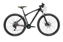 Bicicleta MTB Caloi Carbon Ibex Aro 29 Tam M - Shimano Deore/XT suspensão Rock Shox - Preto -