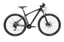 Bicicleta MTB Caloi Carbon Ibex Aro 29 Tam P - Shimano Deore/XT suspensão Rock Shox - Preto -