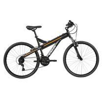 Bicicleta MTB Caloi T-Type Aro 26 - Susp Diant - 21 Vel - Preto Fosco -