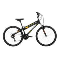 Bicicleta MTB Caloi TRS Aro 26 - Susp Dianteira - 21 Vel - Preto Fosco -