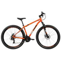 Bicicleta MTB Caloi Two Niner Alloy Aro 29 - Quadro Alumínio - 21 Velocidades - Laranja -