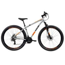 Bicicleta MTB Caloi Two Niner Alloy Aro 29 - Susp Diant - Quadro Alumínio - 21 Vel Prata -