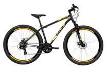 Bicicleta MTB Caloi Vulcan Aro 29 - Susp Diant - Quadro 17 - Shimano - 21 Vel - Freio a Disc - Cinza -