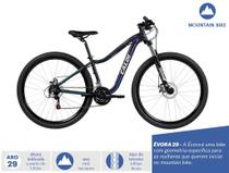 Bicicleta MTB Évora Aro 29 - Suspensão Câmbio Shimano Freio a Disco 21 Velocidades - Preto - Caloi