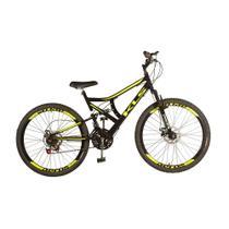 Bicicleta Mtb Kls Full Suspension Gold Aro 26 Freio Disco 21 Marchas -