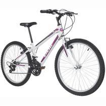 Bicicleta MTB Podium Aro 24 Feminina Branca - Polimet -