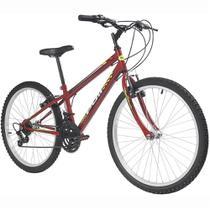 Bicicleta MTB Podium Aro 24 Masculina Vermelha - Polimet -