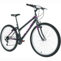 Bicicleta MTB Podium Aro 26 Feminina Preta - Polimet -