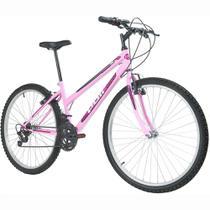 Bicicleta MTB Podium Aro 26 Feminina Rosa - Polimet -