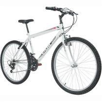 Bicicleta MTB Podium Aro 26 Masculina Branca - Polimet -