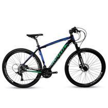 Bicicleta Mtb South Legend 24v Câmbio Shimano Azul e Verde -