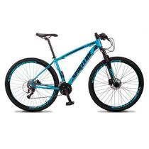 Bicicleta MTB Vega Aro 29 Quadro 17 Alumínio 27 Marchas Freio Hidráulico Azul - Spaceline -