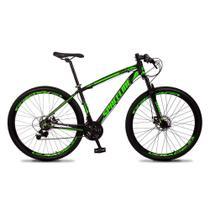Bicicleta MTB Vega Quadro 17 Aro 29 Alumínio 21 Marchas Freio Mecânico Preto Verde - Spaceline -