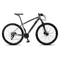 Bicicleta MTB Vega Quadro 19 Aro 29 Alumínio 27 Marchas Freio Hidráulico Cinza - Spaceline -